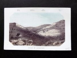 Thomson Holy Land 1863 Antique Print. Valley of Jehosaphat